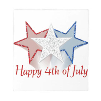 Happy 4th of July Notepad