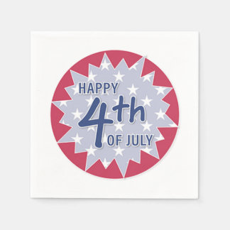 Happy 4th of July Paper Napkin