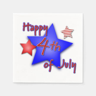 Happy 4th of July Paper Serviettes