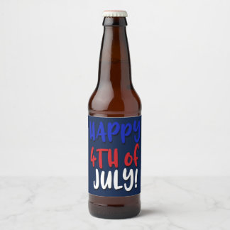 Happy 4th of July! | Patriotic Beer Bottle Label