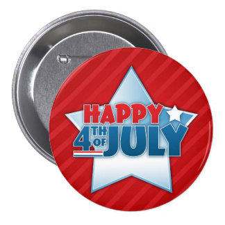 Happy 4th of July Patriotic Button