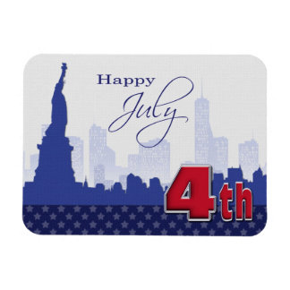 Happy 4th of July. Patriotic Design Gift Magnets