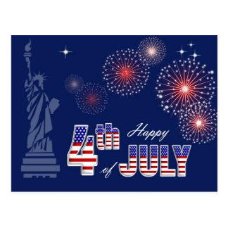 Happy 4th of July. Patriotic design Postcards