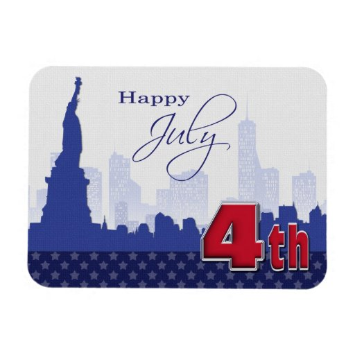 Happy 4th of July . Patriotic Gift Magnet Rectangle Magnets
