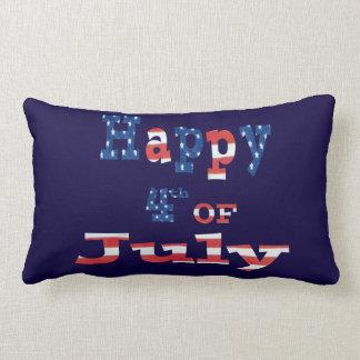 Happy 4th of July Patriotic Lumbar Pillow Cushion