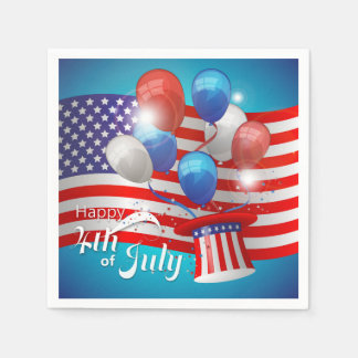 Happy 4th of July Patriotic Paper Napkin