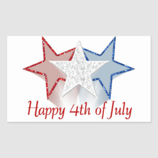 Happy 4th of July Rectangular Sticker