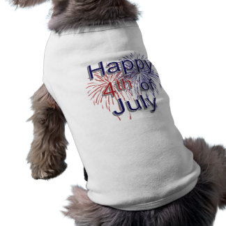 Happy 4th of July Sleeveless Dog Shirt