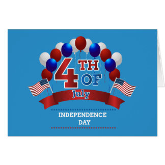 Happy 4th of July text Note Card