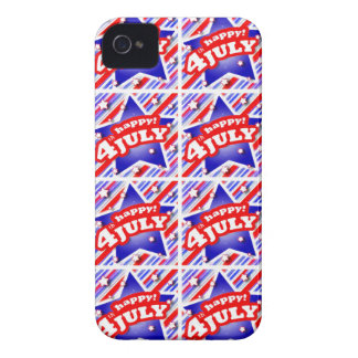 Happy 4th of July Theme Pattern iPhone 4 Case-Mate Case