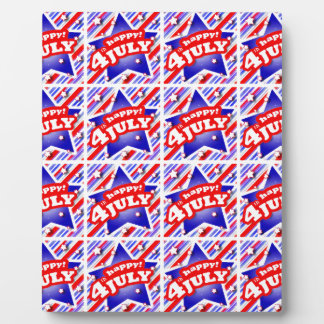 Happy 4th of July Theme Pattern Plaque