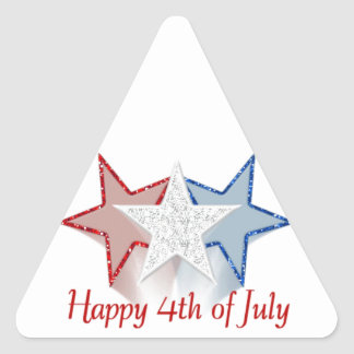 Happy 4th of July Triangle Sticker