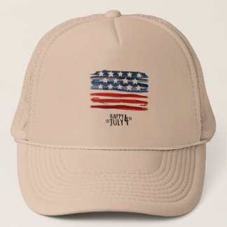 Happy 4th Of July Trucker Hat Men Cap
