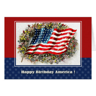 Happy 4th of July. Vintage Design Custom Cards