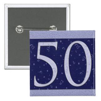 Happy 50 Birthday Button