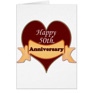 Happy 50th. Anniversary Card