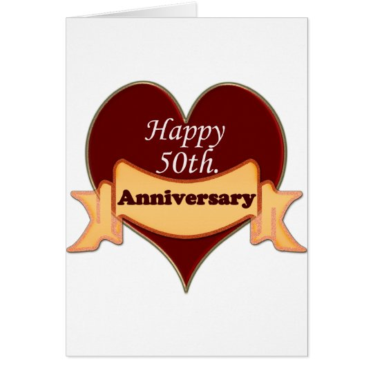 Happy 50th. Anniversary Card