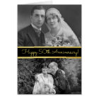 Happy 50th Anniversary Personalised Photo Card