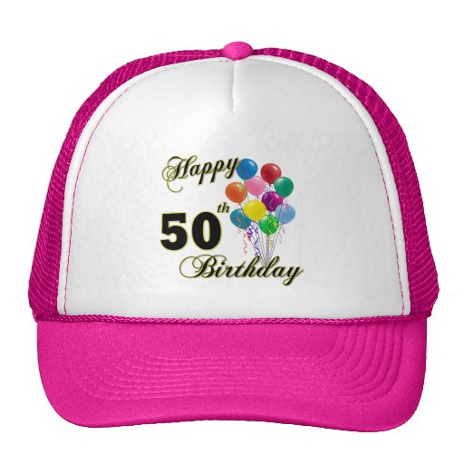 Happy 50th Birthday Gifts and Birthday Apparel Trucker Hats