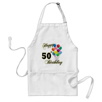 Happy 50th Birthday Gifts and Birthday Apparel Standard Apron