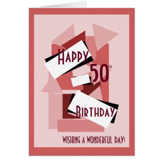 Happy 50th birthday wishing you a wonderful day card