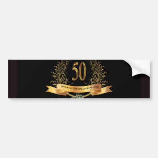 Happy 50th Wedding Anniversary Greeting Carts Bumper Sticker