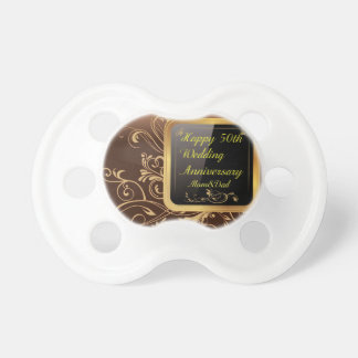 Happy 50th Wedding Anniversary Multi products sele Baby Pacifier