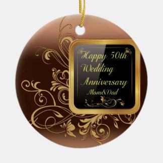 Happy 50th Wedding Anniversary Multi products sele Ceramic Ornament