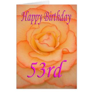 Happy 53rd Birthday Flower Card