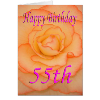 Happy 55th Birthday Flower Card