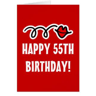 Happy 55th Birthday - Greeting card