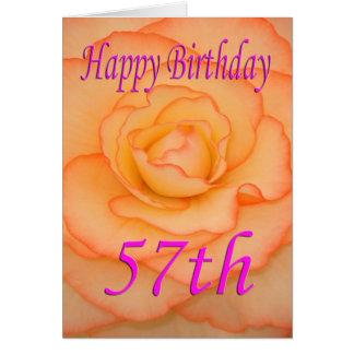 Happy 57th Birthday Flower Card