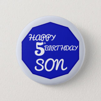 Happy 5 th birthday son in blues badge