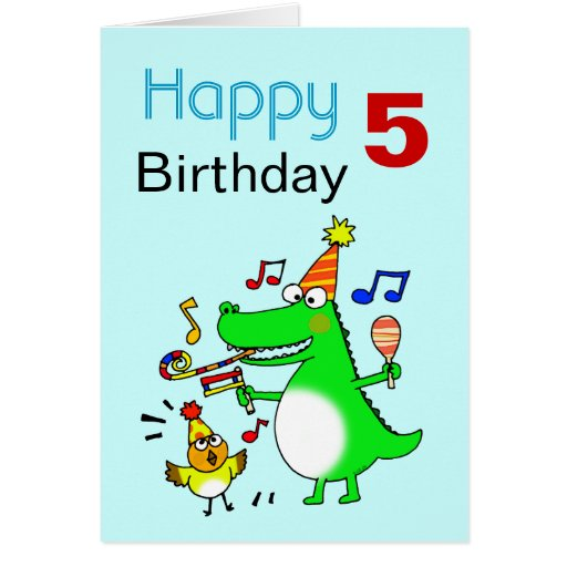 Happy 5th Birthday I Am 5 Zazzle Happy 5 Birthday Wishes