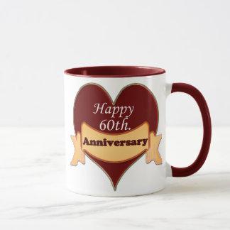 Happy 60th. Anniversary Mug