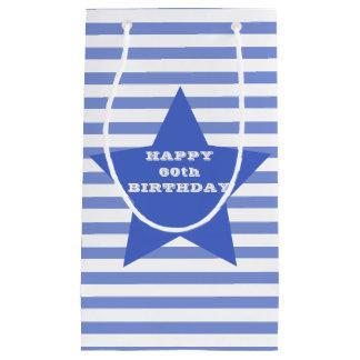 Happy 60th Birthday | Blue Star & Stripes Gift Bag