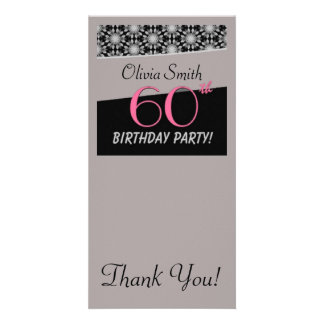 Happy 60th Birthday Customised Photo Card