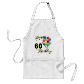 Happy 60th Birthday Gifts and Birthday Apparel Standard Apron