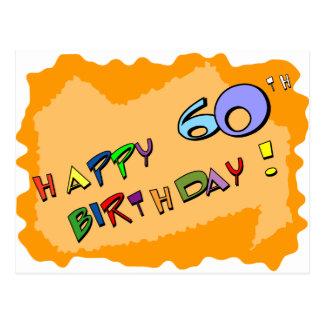Happy 60th Birthday! Postcard