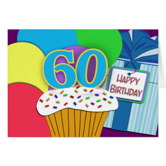 Happy 60th Birthday Wishes Card