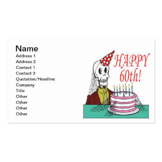 Happy 60th pack of standard business cards