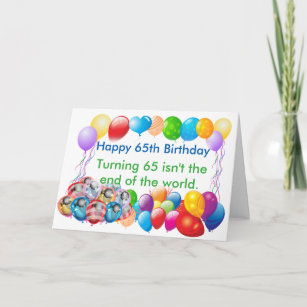 Happy 65 Birthday Greeting Card