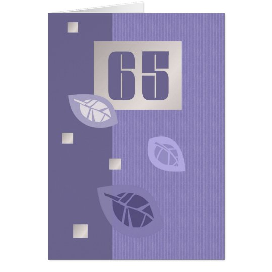 Happy 65th Birthday Customisable Greeting Cards