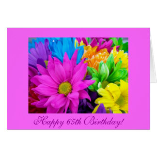 Happy 65th Birthday Recycled  Greeting Card