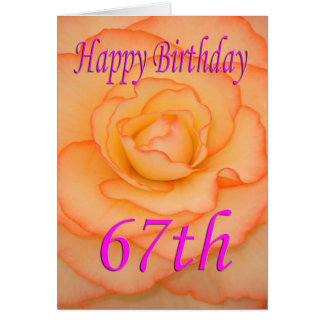 Happy 67th Birthday Flower Card