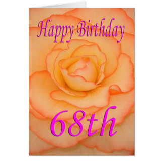 Happy 68th Birthday Flower Card