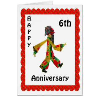 Happy 6th Anniversary Card