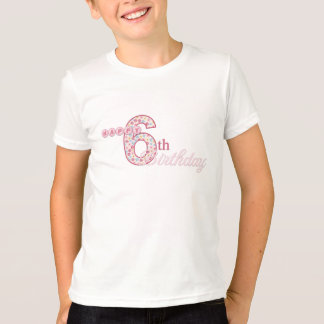 Happy 6th Birthday Pink T-Shirt