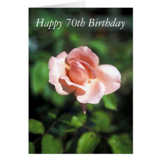 Happy 70th Birthday Flower Card