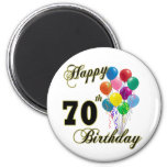 Happy 70th Birthday Gifts and Birthday Apparel 6 Cm Round Magnet